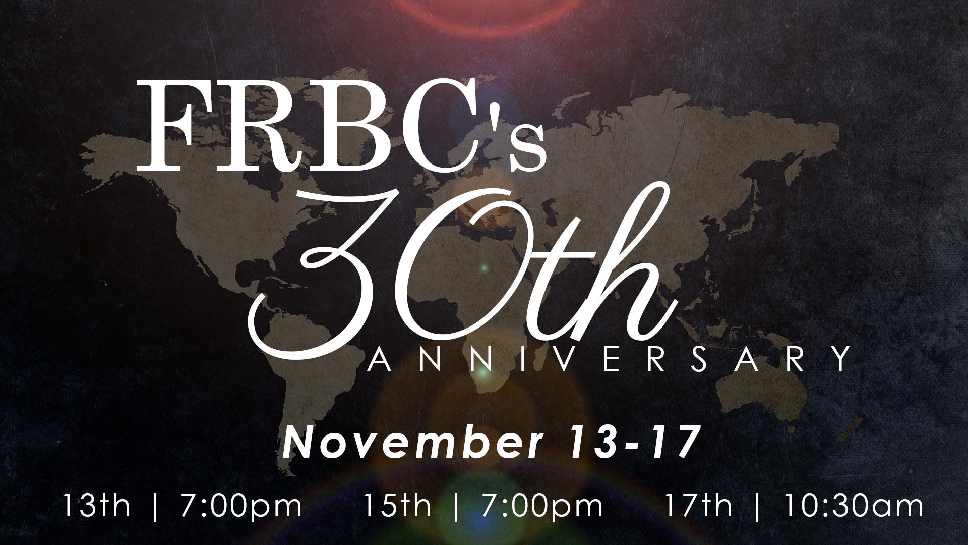 frbc 30th times dates